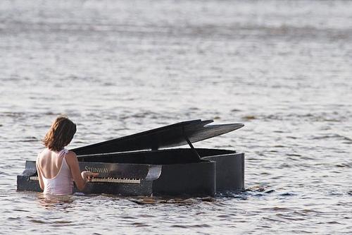 Weird Piano under the water