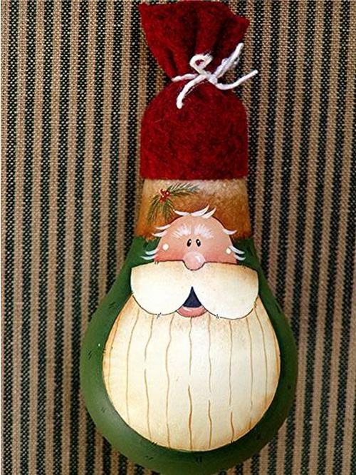 Santa Claus Recycled Ornament