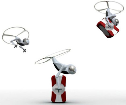 Flying Robot for Air Mail