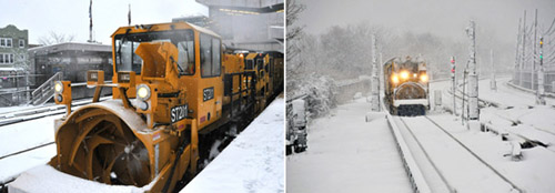 Fight Blizzard With Gigantic Snow Blower Train