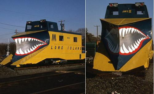 Jaws III Shark Painted Snow Trains