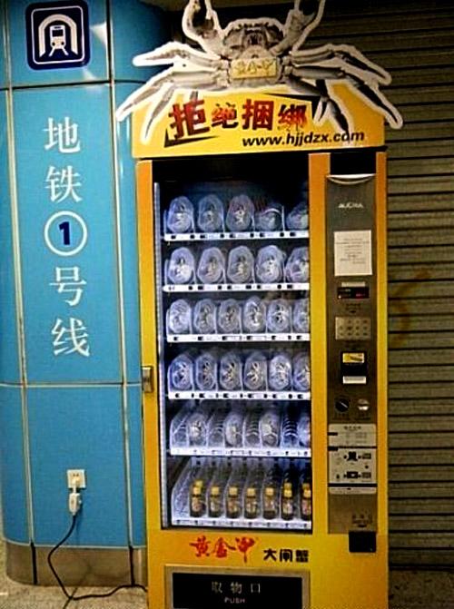 Live Crab Vending Machines